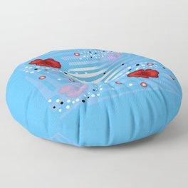 Grove poppies Floor Pillow