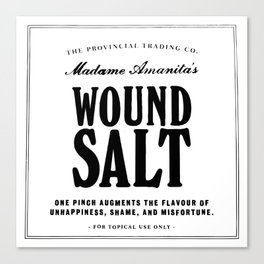 Wound Salt Canvas Print