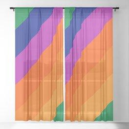 Simple Stripes - Grass Sheer Curtain