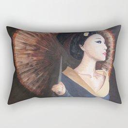 Geisha Girl with Parasol Rectangular Pillow