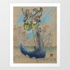DRAGON BOAT Art Print