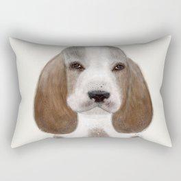 little basset hound Rectangular Pillow
