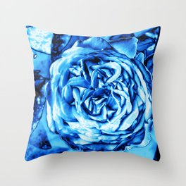 Rose metallic ice Throw Pillow