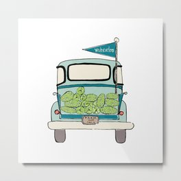 Watermelon Truck Metal Print