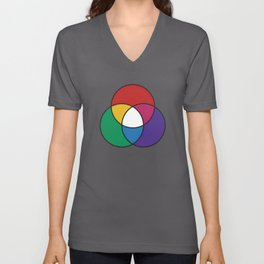 Matthew Luckiesh: The Additive Method of Mixing Colors (1921), re-make, interpretation Unisex V-Neck