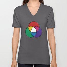 Matthew Luckiesh: The Additive Method of Mixing Colors (1921), re-make, interpretation Unisex V-Neck
