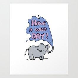 Wild Day Art Print