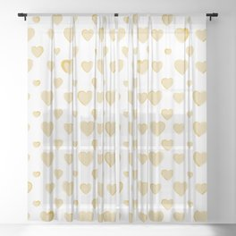 Made for you my heart 30 Sheer Curtain