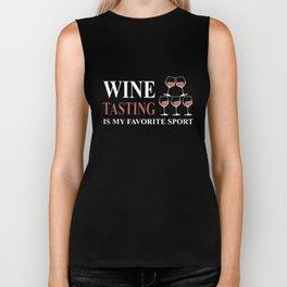 wine tasting drink t-shirts Biker Tank