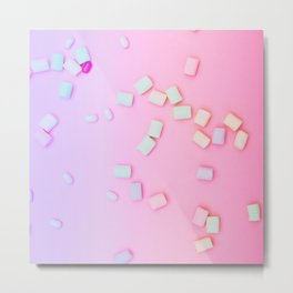 colorful marshmallow Metal Print