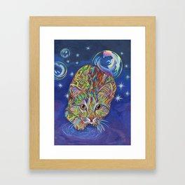 Electric Cat Framed Art Print