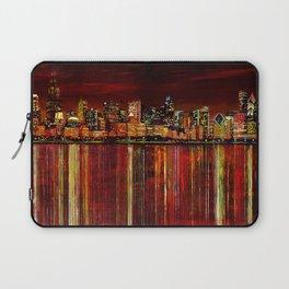 Chicago Night Skyline Laptop Sleeve