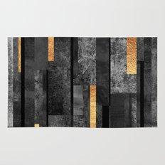 Urban Black & Gold Rug