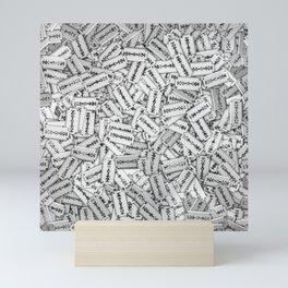 Razor blades Mini Art Print