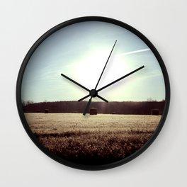 Staring Into the Sun Wall Clock