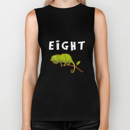 Kids 8 Year Old Lizard Reptile Birthday Party 8th Birthday Biker Tank