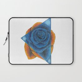 Orange and Blue Rose with Triangle Laptop Sleeve