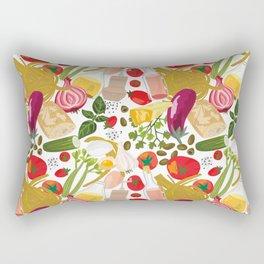 Fresh Italian Market Food Rectangular Pillow