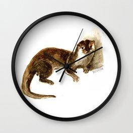 Totem otter: Amblonyx cinerea Wall Clock