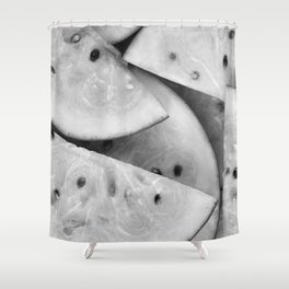 Fruit (Black and White) Shower Curtain