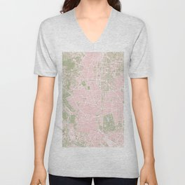 Madrid map vintage Unisex V-Neck