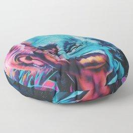 Einstein graffiti Floor Pillow