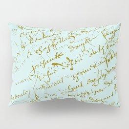 French Script on Paris Blue Pillow Sham