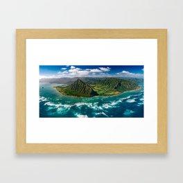 Jurassic Park Panoramic Framed Art Print