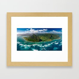 Jurassic Park Panoramic Framed Art Print