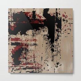 Grunge Paint Flaking Paint Dried Paint Peeling Paint Beige Red Black Metal Print
