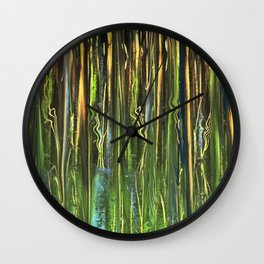 Sun on Morning Marsh Wall Clock
