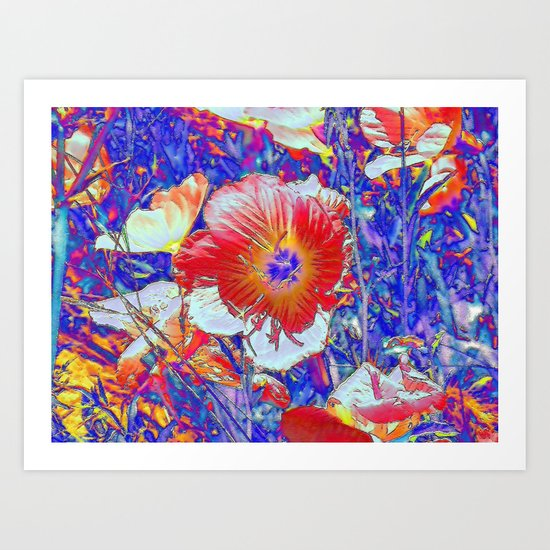The Wildflowers. © J&S Montague. Art Print