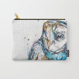 The Sea Glass Owl Carry-All Pouch