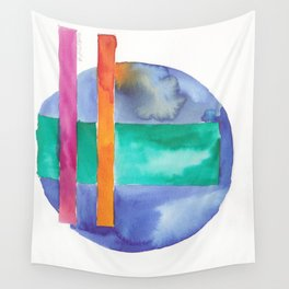 180818 Geometrical Watercolour 7| Colorful Abstract | Modern Watercolor Art Wall Tapestry