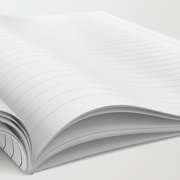 White Black Lines Minimalist Notebook