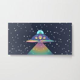 Alien in her Ship Metal Print
