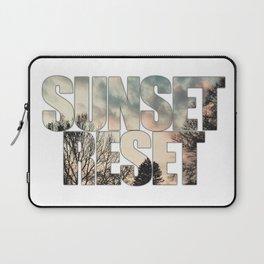Sunset Reset - Inspirational Graphic Design Laptop Sleeve