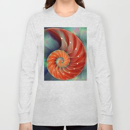 Nautilus Shell - Nature's Perfection by Sharon Cummings Long Sleeve T-shirt