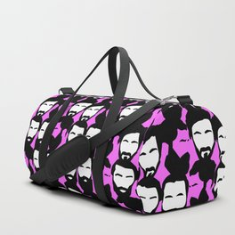 Beards are sexy_pink Duffle Bag