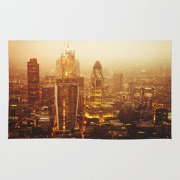London Aerial view at sunrise Rug