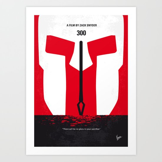 No001 My 300 minimal movie poster Art Print