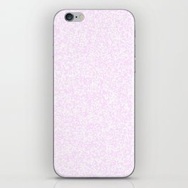 Tiny Spots - White and Pastel Violet iPhone Skin