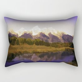 Landscape Abstraction Rectangular Pillow