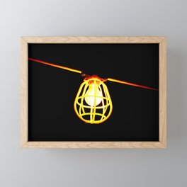 Tungsten light bulb Framed Mini Art Print