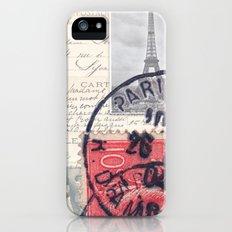Postale Paris iPhone (5, 5s) Slim Case