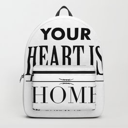 Your Heart is - Typography Backpack
