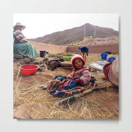 Bolivian little girl. Metal Print