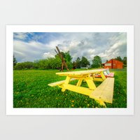 parks Art Prints featuring Parks by Jathin Jayan