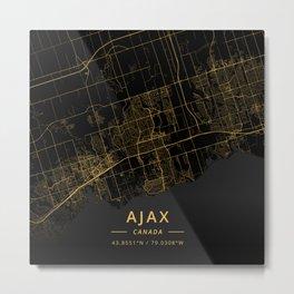 Ajax, Canada - Gold Metal Print