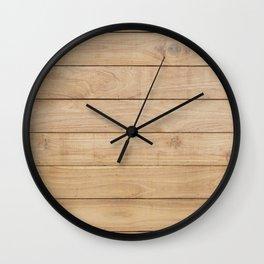 Wood plank Wall Clock